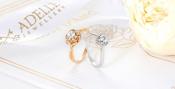 Solitaire Ring - Rose D'Amour